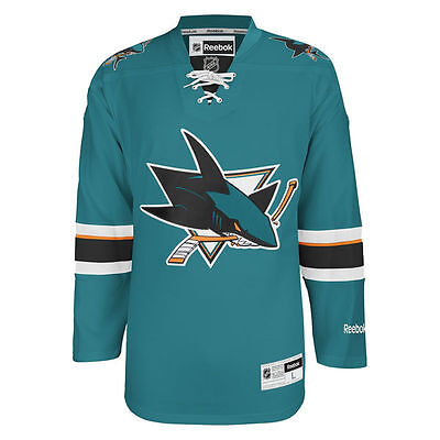 Reebok San Jose Sharks Mens Premier Home Trikot - Teal