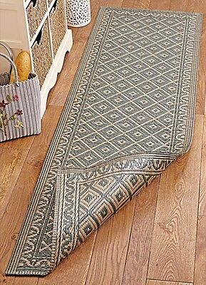 reversable runner Long Floor rug 60cm X 180cm Tough Durable Hall Hallway New