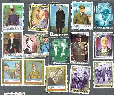 General De Gaulle 50 all different collection