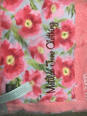 MATILDA JANE Happy & Free Blanket Quilt Strawberries 50x60 NIB NWT Sold Out