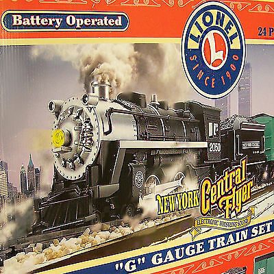 Vintage Train Set G Size New York Central Flyer Battery Operated 2001 Lionel New