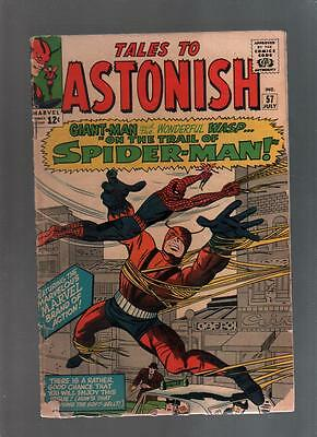 Tales to Astonish #57 Nice Shape.  Early Spider-man See Scans!