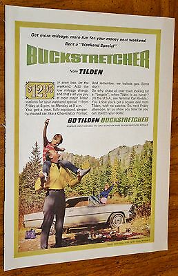 Canadian 1967 Chevy Nova Coupe For Tilden Rent A Car Ad - Vintage 60S Canada