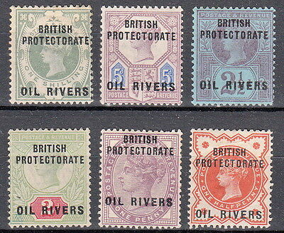 NIGERIA Oil Rivers Protectorate  Full mounted mint set SG1 SG2 SG3 SG4 SG5 SG6
