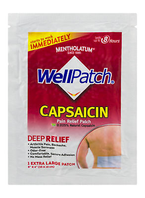 Mentholatum Wellpatch Capsaicin Pain Relief Patch Deep Relief 1 Count Pack Of 3