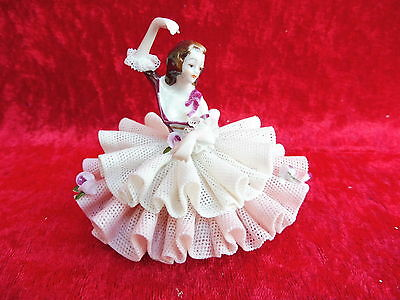 beautiful, antique Porcelain Figurine___Female Dancer__Dresden__