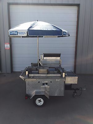 DreamMaker Custom Riverside Hot Dog Concession Food Cart w/Trailer & Accessories