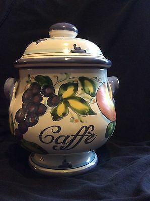Vintage Coffee Container- 9 Inch Tall Made In Florence, Italy