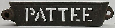 Pattee Cast Iron Tractor Implement Tool Box Tray 276 - cutout letters
