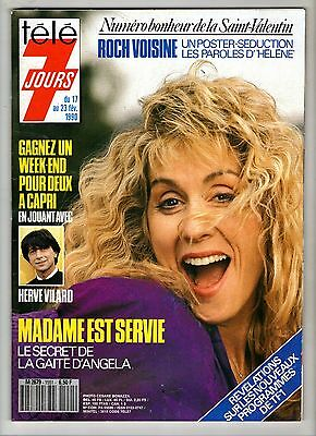 ►Tele 7 Jours 1551 Angela - Herve Vilard - Barbara - Roch Voisine - Jerry Hall