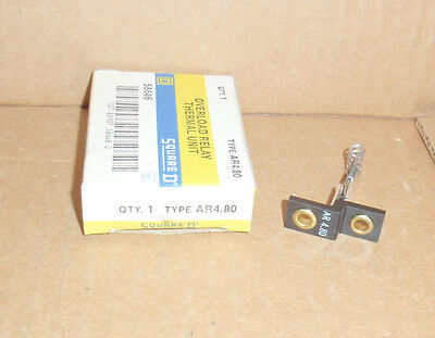AR4.80 Square D NEW In Box Overload Relay Thermal Unit AR480 58646 AR 4.80