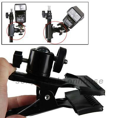 "Clip Clamp Grip Light Stand 1/4"" Screw For Photo Studio Camera Flash Light Stand"