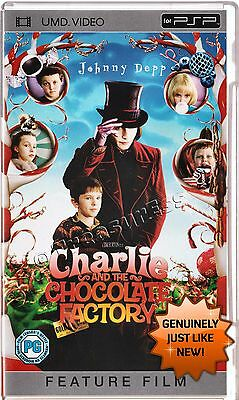 ●● CHARLIE AND THE CHOCOLATE FACTORY ●● UMD Movie For Sony PSP Only *AS NEW*