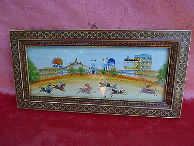 Pretty picture__orient__miniature painting__Equestrian Games__Beautiful Frame__