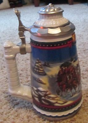 2002 Guiding The Way Home Budweiser Holiday Cs529Se Lidded Stein New