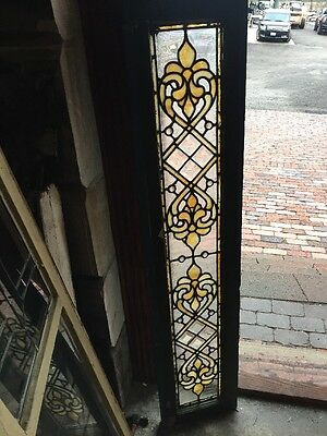 Sg 1028 Amazing 12 Inch Antique Stainglass Transom  Window