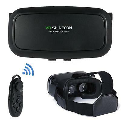 Shinecon VR 2.0 Virtual Reality Headset 3D Movies Games Glasses +Controller N9K4