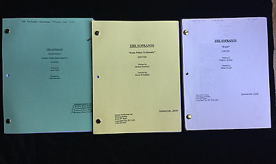 THE SOPRANOS original production scripts and call sheets James Gandolfini