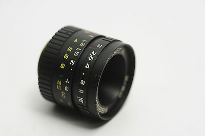 EXC VEGA 20mm f2 Soviet Russian C-mount cine movie lens