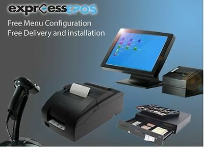 "Brand New Full EPOS Hospitality Restaurant Takeaway System 17"" POS INC Software"