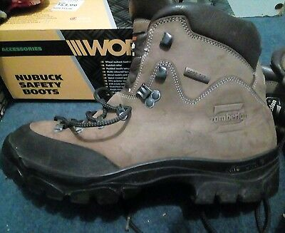Zamberlan Work Hiking boots shoe hi top safety steel toe Very solid boot size 7