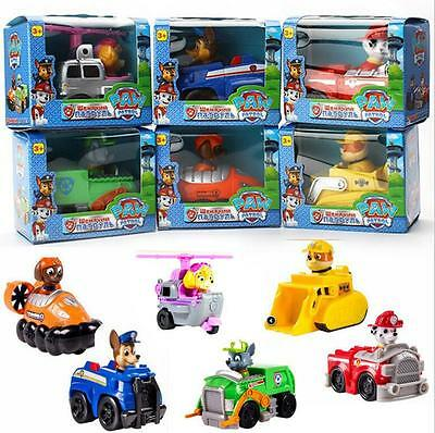 Hot Paw Patrol Toy Action Figure Doll Racer Car Kids Baby Christmas Gift 6 Kinds