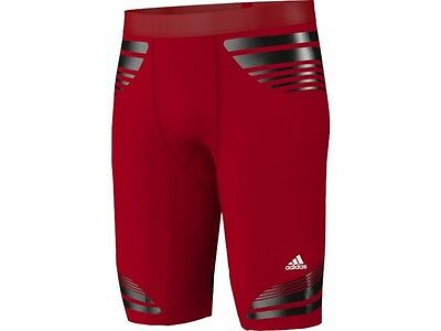 Adidas Tech-Fit Compression Power Web Mens Short Tights Red Size Large