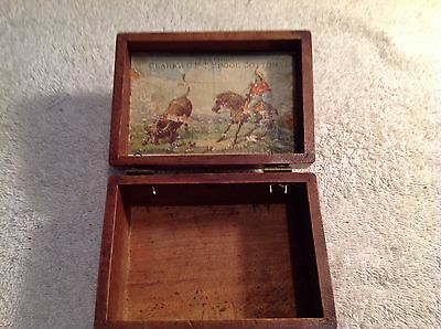 Clark's O M T Spool Cotton Wooden Advertising  Box