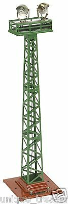 MTH No.92 FLOOD LIGHT TOWER Green with Terra Cotta Base Orig Box
