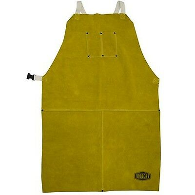 "IRONCAT 7010 Heat Resistant Leather Apron 24"" Width x 42"" Height Tan New"