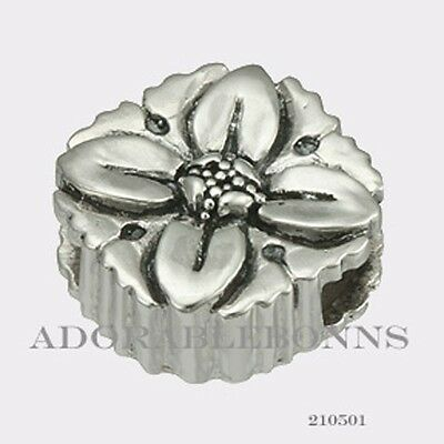 Authentic Lori Bonn Sterling Silver Primrose Slide Charm 210501