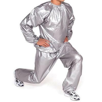 Unisex Sauna Sweat Suit Gym Exercise Training Slimmer Boxing Fighting Grey
