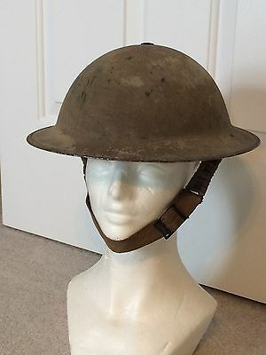 Rare Original Ww2 British Desert Camo Helmet Dated 1940