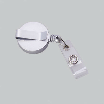 Retractable Pass ID Card Badge Holder Clip Key Chain Reel w/ Clip New