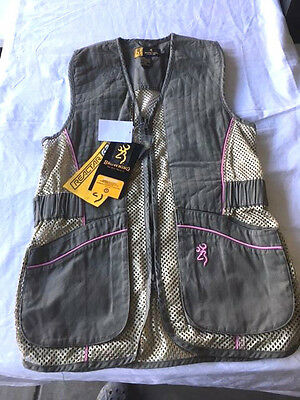 LADY Browning Mesh Shooting Vest - Reactar G2 - Sage & Pink - You Choose - NWT