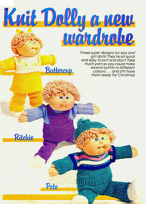 Cabbage Patch Dolls Clothes - Vintage Knitting Pattern