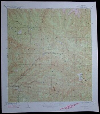 Twin Sisters New Mexico Gila National Forest vintage 1948 old USGS Topo chart