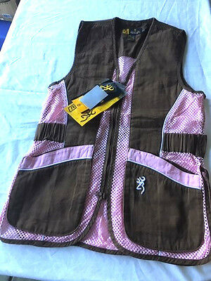 LADY Browning Mesh Shooting Vest - Reactar G2 - Brown & Pink - You Choose - NWT