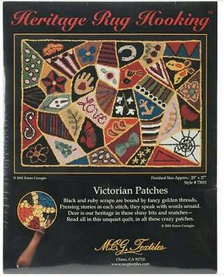 "Heritage Rug Hooking Victorian Patches 20"" x 27"" NEW"