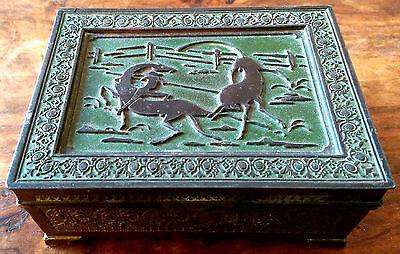 Vintage Japanese silver plated cigarette box