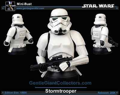 1 SIDESHOW STAR WARS ///( 1 Stormtrooper Gentle Giant Mini Bust Deluxe ) BOXED