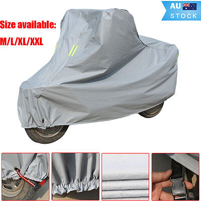 Motorcycle Waterproof Outdoor Vented Motor Bike Scooter Dust Rain Cover Size M