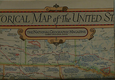 1953 National Geographic Historical Map of the United States w/Historical Notes