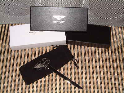 """Bentley """"flying B Line"""" Polished Chrome Letter Opener New In Gift Box W/pouch!"""
