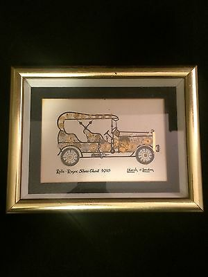 """L. Kersh of London Signed Horological Collage """"Rolls Royce Silver Ghost 1910"""""""