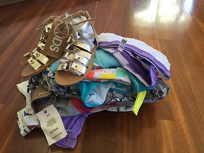 Free Post Girls NWT Bulk Summer Clothes Sz 7 x 14 Items,Country Road,Roxy (2)