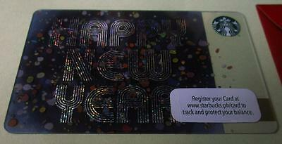 2016 STARBUCKS Christmas Card Happy New Year PHILIPPINES Exclusive pin intact