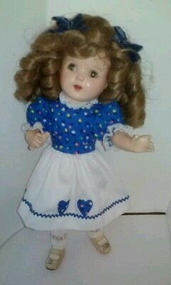"""17"""" 1934-1936 VOGUE? Or IDEAL SHIRLEY TEMPLE  COMPOSITION DOLL? UNMARKED IDEAL."""