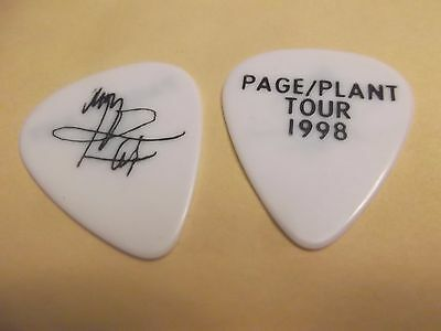 JIMMY PAGE Signature White Guitar Pick PAGE/PLANT TOUR  - 1998 Led Zeppelin