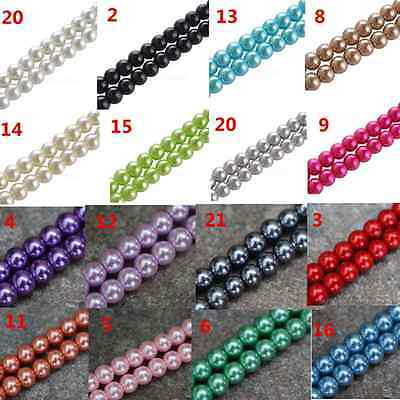 4mm/6mm/8mm/10mm Acrylic Pearls Round Spacer Loose Beads for Jewey Findings